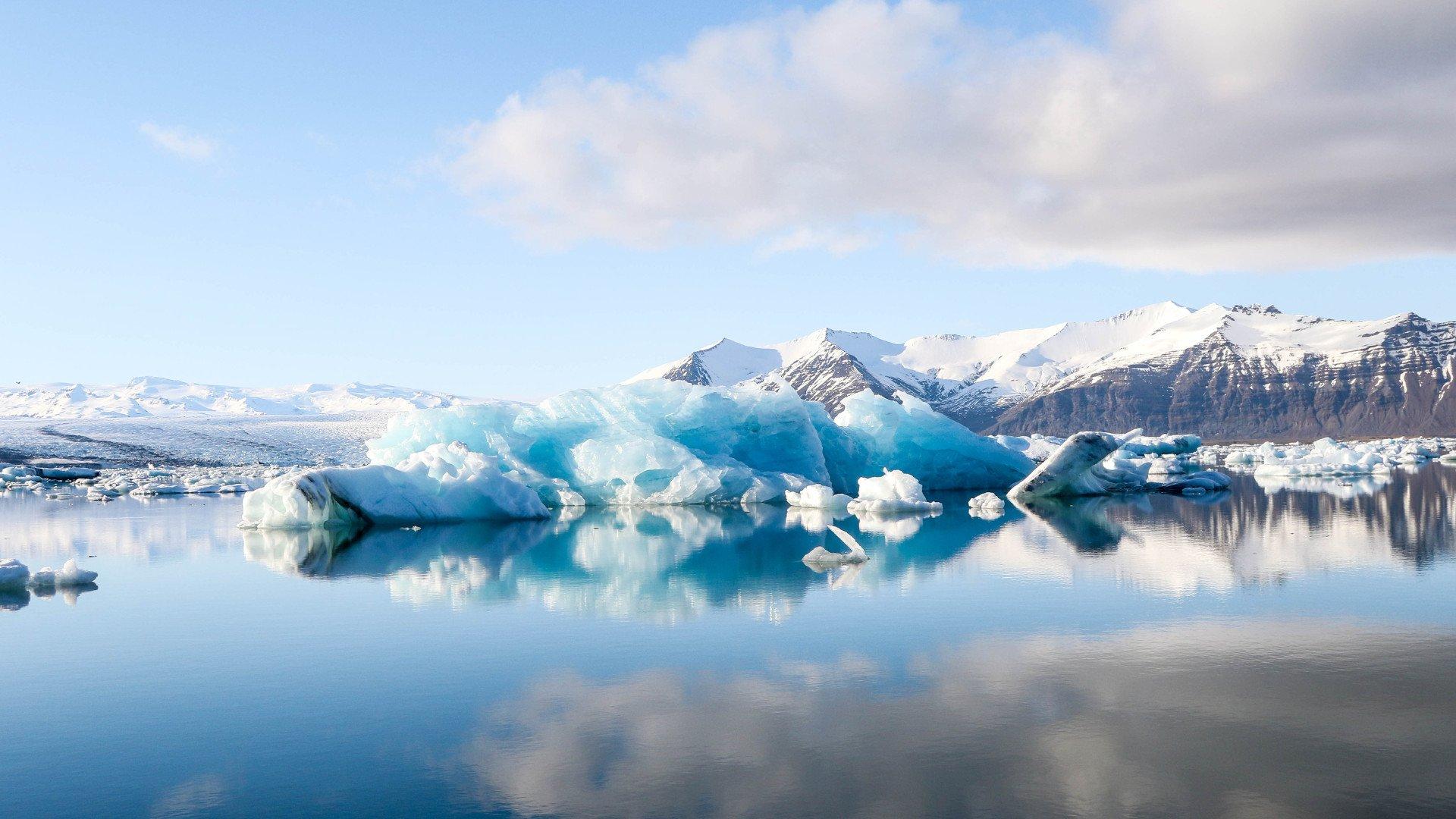 Iceberg reflection in Jokulsarlon